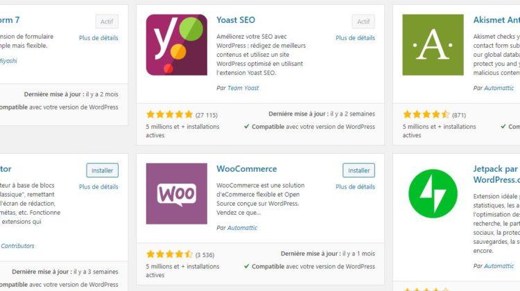 Liste meilleures extensions SEO pour Worpress